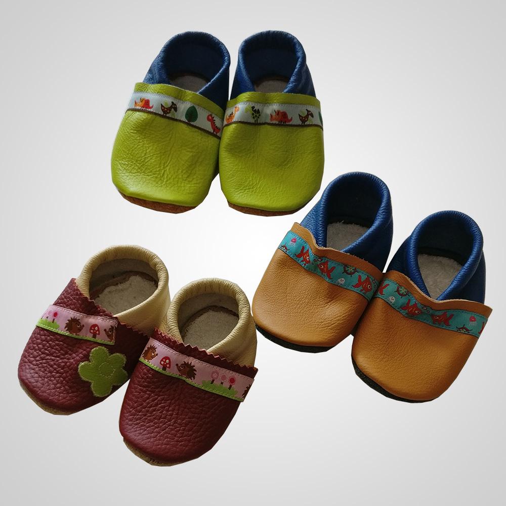 Selbstgenähte Schuhe für Kinder