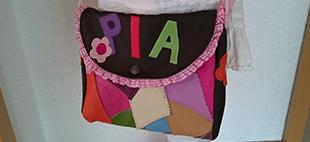 Kinderpatchworktasche mit Name
