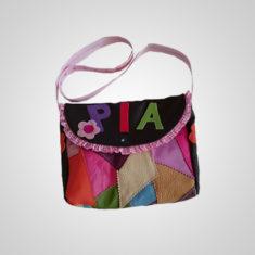 Kinderpatchworktasche für Mädchen mit Name