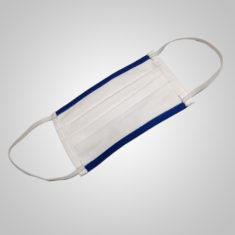 Stoffmaske (weiß/blau)
